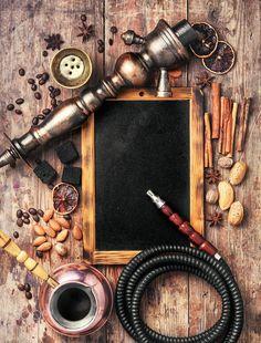 Arab shisha with coffee flavor and chalk board Hookah Smoke, Tobacco Shop, Smoke Wallpaper, Smoke On The Water, Hookah Lounge, Hookahs, Glass Bongs, Art Friend, Smoke Shops