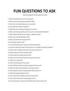 99 Fun Questions to Ask - Spark engaging conversations.