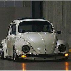 Slammed Volkswagen Beetle.