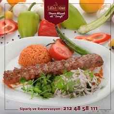 """Günün #lezzet önerisi """""""" Adana Kebap """"""""   -- Sipariş Hattımız : 0212 48 58 111 ☎"""