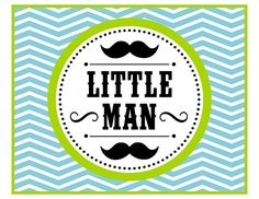 Little Man Mustache Bash parties are so popular, and they work so well for baby showers, 1st birthdays, and even older boy birthdays. This collection includes: invitations, welcome sign, cupcake toppers, water bottle labels, treat toppers, mini candy bar wrappers,