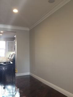 Benjamin Moore's 'Revere Pewter,' described as the best paint colour ever!  LOVE IT.