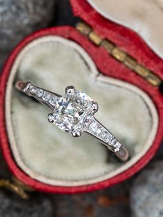 How was your Valentine's Day? ❤️ . Sku AE18377 (1.3ct vintage cushion diamond in platinum) Vintage Engagement Rings, Vintage Rings, Diamond Engagement Rings, Cushion Diamond, Cushion Cut Diamonds, Vintage Cushions, Amethyst Jewelry, Size 10 Rings, Wedding Rings