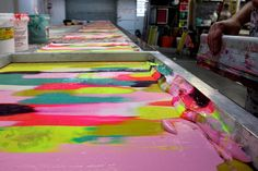 Harvest Textiles printing at the studio by harvest textiles | harvest workroom, via Flickr
