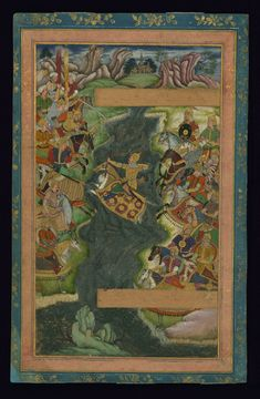 W.668, Album of Persian and Indian calligraphy and paintings, Persian (1585 CE, Iran or India)