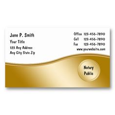 notary business cards_2 business card - Notary Business Cards