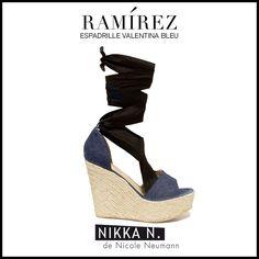 Espadrilles Ramirez Nikka verano 2015 modelo Valentina bleu disponible en tienda Ramirez Peru 587 y en nuestro Showroom Humboldt 1550 of 111 #ramirez #nikka #crueltyfree #espadrilles #valentina #zapatos