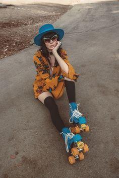 New dress fashion photography bohemian 69 Ideas Roller Derby, Quad Roller Skates, Roller Skating, Trendy Dresses, Nice Dresses, Fashion Dresses, Vintage Photography, Fashion Photography, Photography Poses