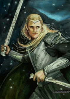 "driftinglightofthewoods: "" i-dream-of-oceans: "" prince-with-the-golden-bow: "" Legolas orlando bloom hobbit Tolkien by KerdzevadzeART LEGOLAS IN THRANDUIL'S ARMOR, LEGOLAS IN THRANDUIL'S ARMOR, LEGOLAS..."