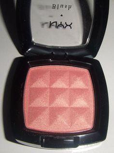 NYX powder blush in Pinched - $4.95...sooo shimmery.