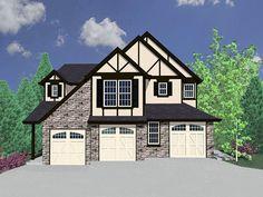 This gorgeous triplex home plan has marvelous Tudor detailing.The lower level unit has 1,561 sq. ft. of living, the main floor unit has 1,305 sq. ft. of living, and the upper unit has 2,185 sq. ft. of living.Related Plan: Get a multi-family Tudor style duplex house plan with 85053MS.
