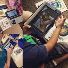 Using the Quiver Android app, #lctitanhill students are making their #DotDay creations come to life.