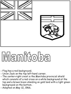 Manitoba Flag Coloring Page Fun Facts About Canada, All About Canada, Teaching Aids, Teaching Social Studies, Summer Reading 2017, Flag Coloring Pages, Canada 150, Canadian History, Kids Learning Activities