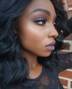 """""""Vampy FallLook #beautyfordarkskin #universodamaquiagem #brian_champagne #wakeupandmakeup #makeupfantic1 #makeupartistsworldwide #maquiagem #maquillaje…"""""""