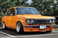 Datsun 510 - The Datsun 510 was a series of the Datsun Bluebird sold from 1968 to 1973, and offered outside the U.S. and Canada as the Datsun 1600.  The 510's engineering was inspired by contemporary European sedans, particularly the 1966 BMW 1600-2, incorporating a SOHC engine, MacPherson strut suspension in front and independent, semi-trailing arms in the back. The European-influenced sheet metal design is attributed to Datsun in-house designer, Teruo Uchino.