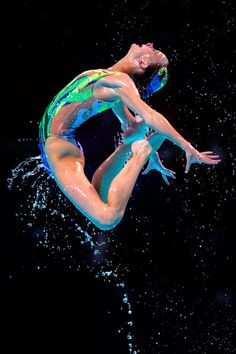 Great Britain compete during the Synchronized Swimming Team Free Final of the 15th FINA World Championships at Palau Sant Jordi on 26.07.13 in Barcelona, Spain.