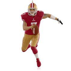 NFL San Francisco 49ers Colin Kaepernick Ornament.  Available:  October 2015.  $17.95