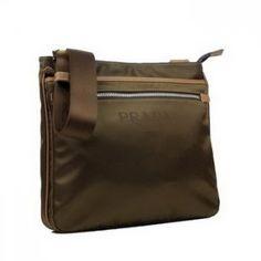 Prada Vela Fabric Messenger Bag BT0251 Brown [BT0251-11466] :
