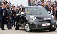 Pope Francis shuns a limosine for a Fiat 500 to visit the White House. The eco-hero shoes what style is- Google Search