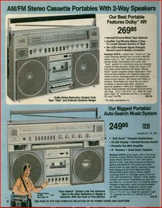 Boom Boxes Early 1980's