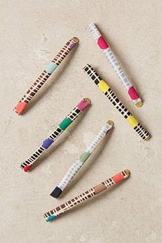 Printed Fabric Hair Pins | Anthropologie.eu