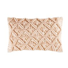 Pink Cotton Macramé Cushion on Maisons du Monde. Take your pick from our furniture and accessories and be inspired! Style Cottage, Deco Rose, Teenage Room, Powder Pink, One Bedroom, Home Art, Shabby Chic, Cushions, Design Inspiration