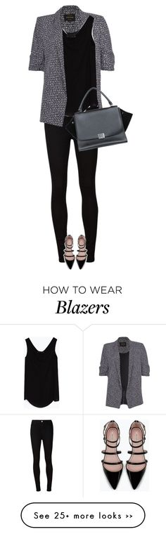 """street style"" by ecem1 on Polyvore featuring River Island, AG Adriano Goldschmied, Zara and CÉLINE"