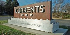 Currents Monument Sign by This Is Folly