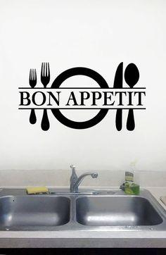 Decalcomanie da muro di cucina di Bon di dadavinylsanddesigns