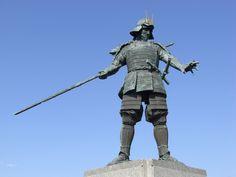 Statue of Chosokabe Motochika at Wakamiya Hachimangu Shrine in Kochi city  #Samurai