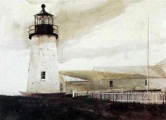 """Andrew Wyeth  - """"Easterly"""" (date unknown) Andrew's palette is perfect. Always."""