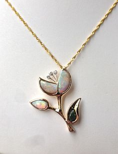 unique opal flower jewelry from Craft-Revival Jewelers