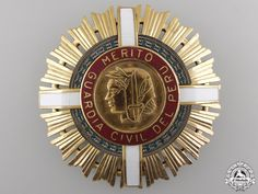 PERU - Civil Guard Order of Merit; Second Class