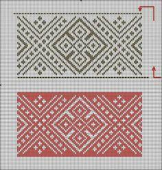 Cross Stitch Geometric, Cross Stitch Borders, Cross Stitch Designs, Cross Stitch Patterns, Needlepoint Stitches, Hand Embroidery Stitches, Needlework, Tapestry Crochet, Crochet Motif