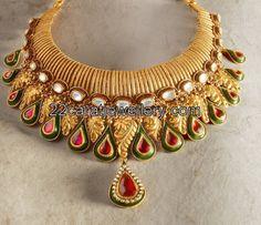 Antique Polki Jewellery Tanishq | Free Download Designer Polki Uncut Diamond Set Studded With Emeralds ...