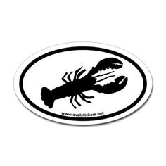 Lobster Oval Car Sticker
