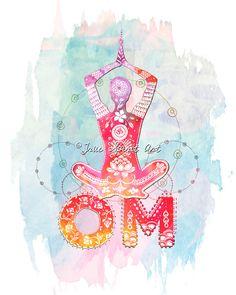 OM-Yogi Kunstdruck Yoga Yogi von LeslieSabella auf Etsy