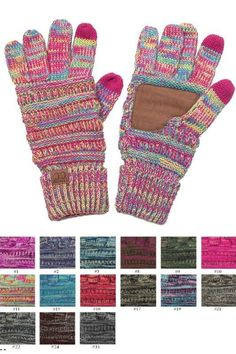 CC 4 Tone Multi Color Gloves 5 Colors #fashion #clothing #shoes #accessories #womensaccessories #glovesmittens (ebay link)