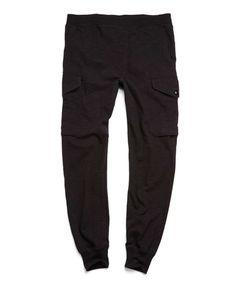 Cargo Sweatpant in Black