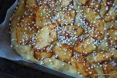 Knäckig äppelkaka i långpanna – Nadjaskitchen.se Stevia, Baked Goods, Baking Recipes, Decoupage, Food And Drink, Cookies, Breakfast, Desserts, Deserts