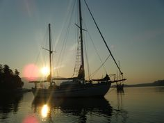 anchored along a wooden Ingrid our family sailed with 35 years ago