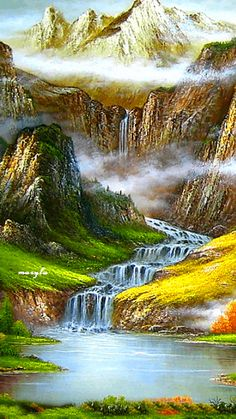 Waterfalls Lakes Plitvice, Croatia (National Park) Is among the 20 most… Beautiful Gif, Beautiful World, Beautiful Pictures, Beautiful Waterfalls, Beautiful Landscapes, Croatia National Park, Gif Bonito, Fantasy Landscape, Nature Wallpaper