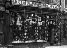 This treasure trove of Victorian photos shows every shop front imaginable selling everything from cheeses and chocolates to shovels and shoes, in the historic market town of Shrewsbury 125 years ago