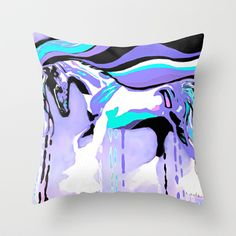 The Flying Lavender Horse Throw Pillow by Saundra Myles - $20.00