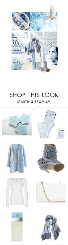 """""""Blue Christmas"""" by tophercouture ❤ liked on Polyvore featuring Maison Margiela, G-Star, Anya Hindmarch, Dolce&Gabbana, Chelsey, Winter, dolceandgabbana and lightblue"""