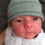 photo tricot tricot modele bonnet naissance 2