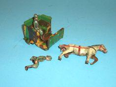 Altes Fischer Penny Toy Militärgespannfragment Blech | eBay