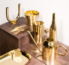 Golden opportunities. Mesmerising minimalist objects cast from shiny brass. Shop now at store.wallpaper.com