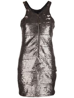 Iro Sequin Robe Zip frontal