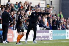 Interim manager Andy Edwards urges Leyton Orient on at the Hive, the home of Barnet, in a 0-0 draw in Division Two (pic: Simon O'Connor).